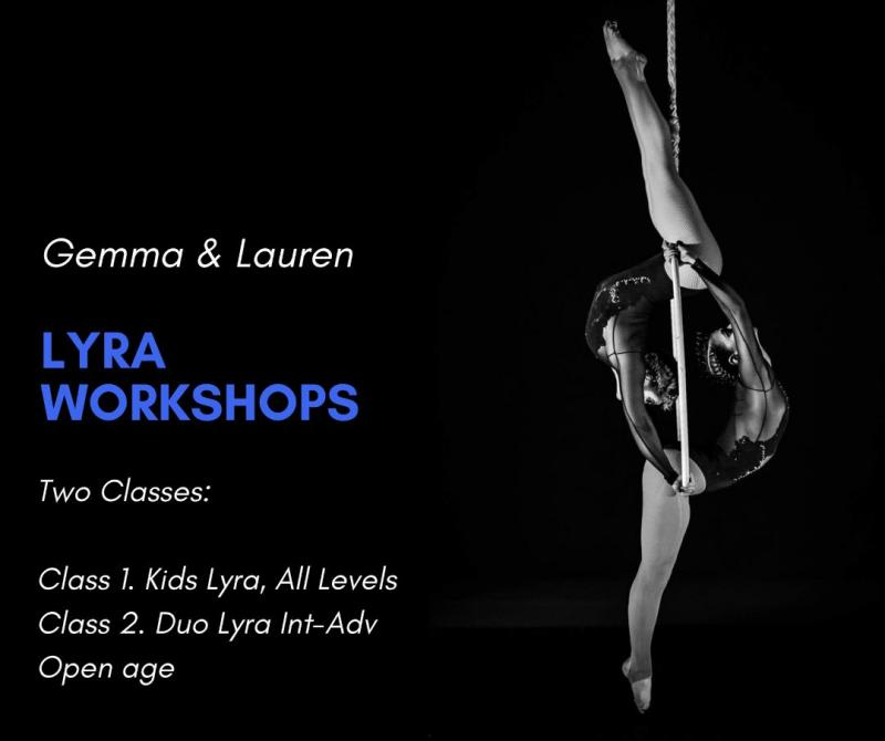 Gemma and Lauren duo lyra workshop