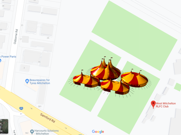 Map for circus